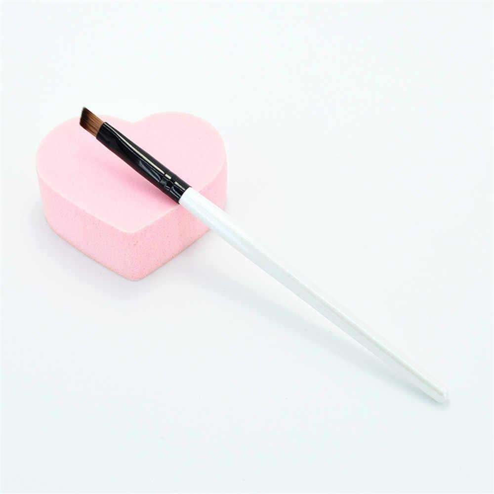 3 PCS/lot biseau sourcil brosse doux Portable manche en bois ombre à paupières maquillage fond de teint correcteur brosses pour outil cosmétique de beauté