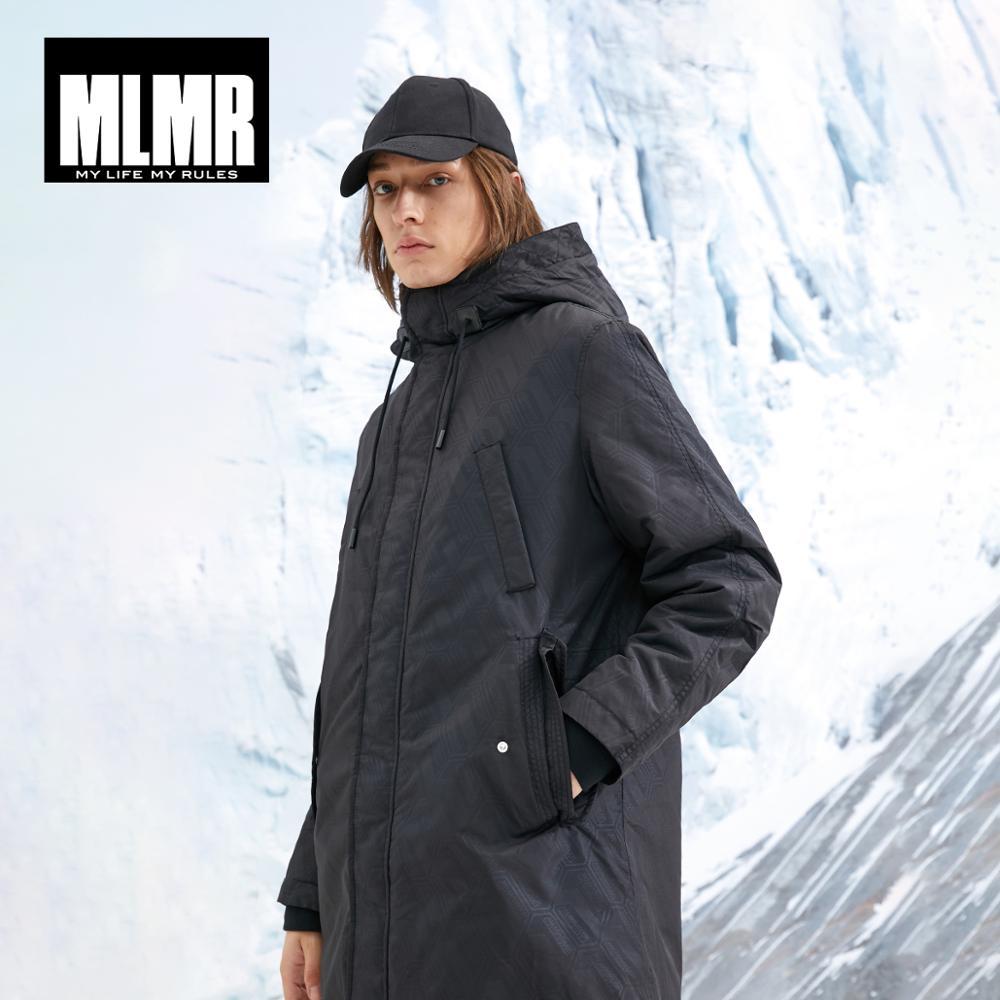 MLMR Men's Hooded   Parka   Coat Long Padded Jacket Quality Outerwear JackJones New Brand Menswear 218409514