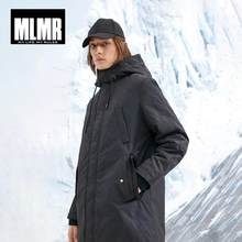 MLMR Men's Hooded Parka Coat Long Padded Jacket Quality Outerwear JackJones New Brand Menswear 218409514(China)