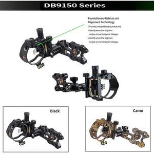 Image 2 - Archery Compound Bow Sight DB Series Retina Micro Adjust Sight 0.019 Fiber Optic 5 pins /7 pins Hunting Shooting Accessories