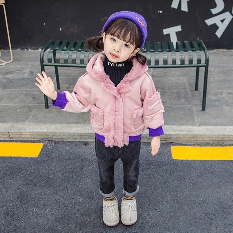 CROAL CHERIE Cute Dogs Kids Girls Jackets Baby Girls Fur Coat Children Winter Outerwear & Coats Thicken FLeece Girls Clothes  (3)