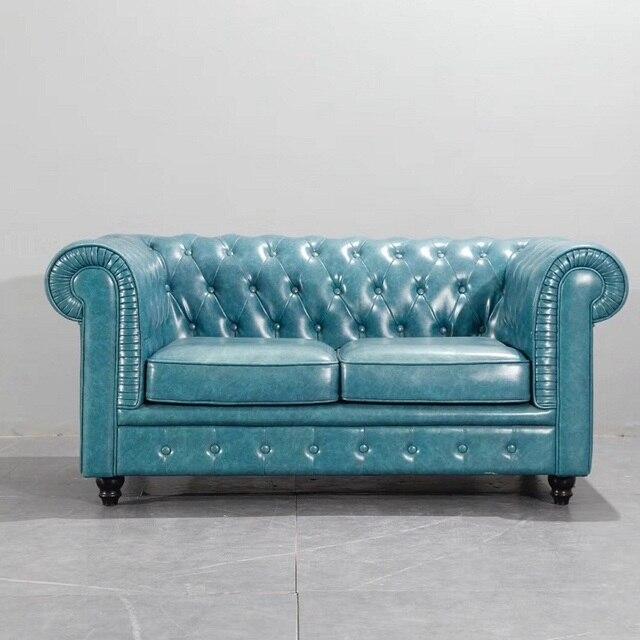 U-BEST Luxury Vintage 2 seat Chesterfield Sofa  5