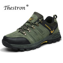Hiking Shoes for Men Army Green Mens Walking Mountain Non-slip Rubber Outdoor Hill Suede Sneakers