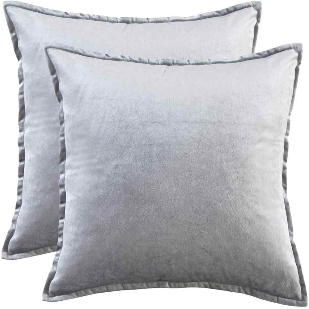 grey modern solid cushion covers for sofa couch bed throw pillow covers 45x45 luxury blue velvet square pillowcases 50x50 30x50