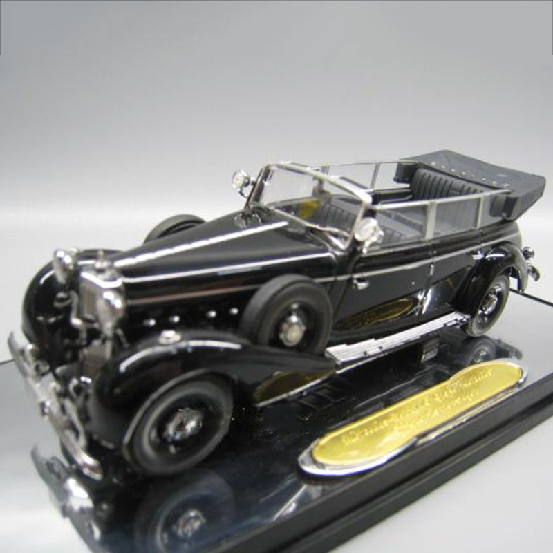 1/43 770K Retro Simulation Alloy Die Casting Convertible Collector's Edition Car Model Chief's Car Or Collection Decoration Gift