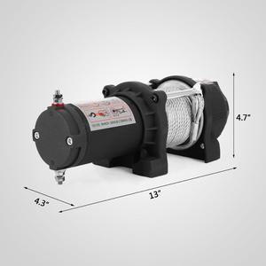 Image 3 - חשמלי מנוף כננת כבל 12V כבל כננת 1360kg / 3000lbs כננת חשמלית עם שלט רחוק (1360kg) עם משלוח חינם