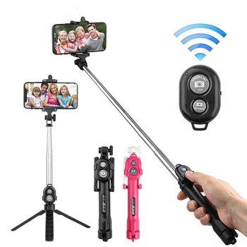 Pilot zdalnego statyw do kijka do Selfie Selfie Stick kijek do selfie do telefonu komórkowego statyw do kijka do selfie dla system iOS telefon z systemem Android tanie i dobre opinie Other Pojazdów i zabawki zdalnie sterowane