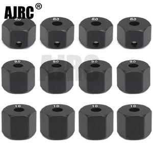 AJRC 4Pcs 12MM Wheel Hex Hub Thickness 8/9/10mm for 1/10 RC Crawler Axial SCX10 II 90046/47 RC Car Part