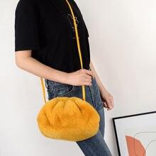 Дамские сумочки мягкая плюшевая сумка на плечо модные сумки