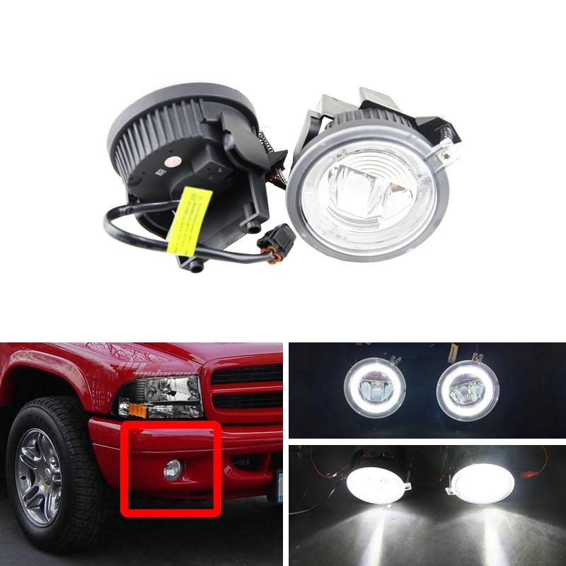 Smoke Fits 2001-2004 Dodge Dakota//Durango Bumper Fog Light Driving Lamp w//Bulb