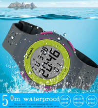 Multi-Function 50M Waterproof Watch LED Digital Watch Double Action Watch Outdoor sport watch Hot sale relogio digital cheap WHooHoo NONE Acrylic CN(Origin) 24 5cm 5Bar Buckle ROUND 20 02mm 10 14mm Resin Back Light LED Display Chronograph Multiple Time Zone