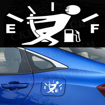 Funny Car Fuel Gage Empty Decal Car Fuel Tank Cap Stickers For ford focus 2 For BMW E90 E46 For Peugeot 206 307 image