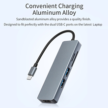 C-Hub-Adapter Multifunctional Tf-Card-Reader Laptop USB3.0 Usb-Type Mini HD 4K for TC18