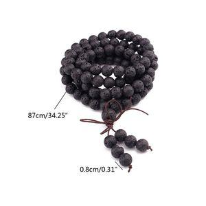 Image 5 - 108 Natural Stone Buddha Prayer Beads Mala Bracelets Buddhist Rosary Necklace