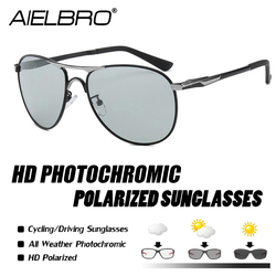 AIELBRO wysokiej jakości okulary fotochromowe męskie okulary przejściowe fotochromowe jazda samochodem łowienie ryb okulary kierowcy Safty gogle