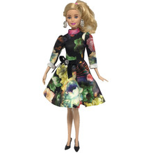 Retro Floral Doll Dress Outfits Clothes for Barbie Accessories Play House Dressing Up Costume Kids Toys Gift