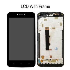 """Image 4 - 5.0 """"LCD için çerçeve ile Motorola Moto C XT1750 XT1754 XT1755 ekran dokunmatik ekran sensörü sayısallaştırıcı meclisi değiştirme yeni"""