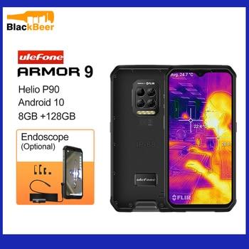 Купить Ulefone Armor 9 Android 10 Мобильный телефон Helio P90 восьмиядерный смартфон IP68/IP69K прочный мобильный телефон тепловизионная камера 6600mA