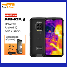Ulefone Armor 9 Android 10 Mobile Phone Helio P90 Octa Core Smartphone IP68/IP69K Rugged Cellphone Thermal Imaging Camera 6600mA