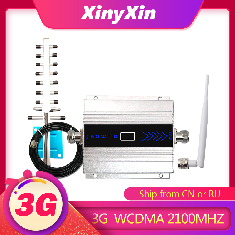 3g Amplifier WCDMA 2100 Cellular Signal Amplifier 3G UMTS/HSPA Mobile Signa Booster Cellular Repeater Amplifier Kit  @XINYXIN