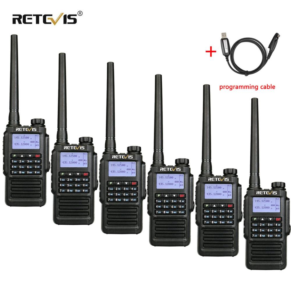 IP67 Waterproof Walkie Talkie 6pcs RETEVIS RT87 Professional Long Range UHF (or VHF) Hands Free FM Two Way Radio Walkie-Talkie