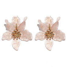 Korean Fashion Earrings Retro Boho Simple Exaggerated Petals Wedding Party Female Jewelry Gifts