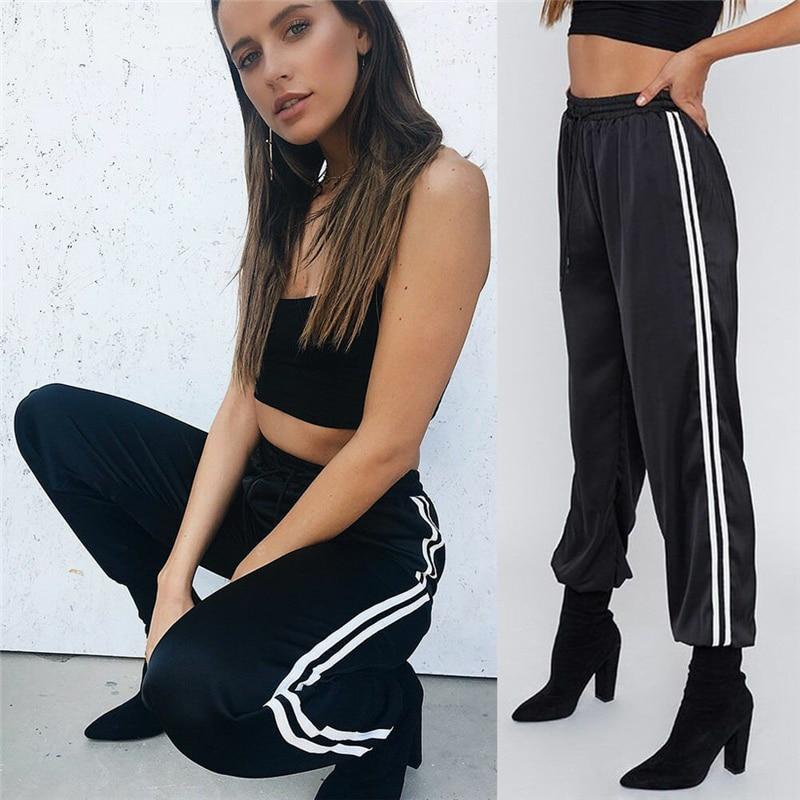 Fashion Women Harem Pants Casual High Waist Long Pant Drawstring Pants Summer Loose Sport Trousers