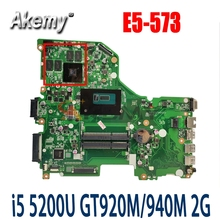 Akemy DA0ZRTMB6D0 материнская плата для ноутбука ACER E5-573 E5-573G ноутбук материнская плата Процессор i5 5200U GT920M/940M 2G DDR3 100% тесты работы