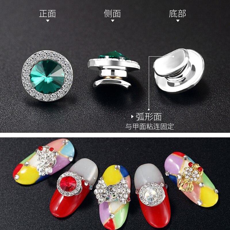 1 шт 3d Хрустальные вращающиеся украшения для дизайна ногтей