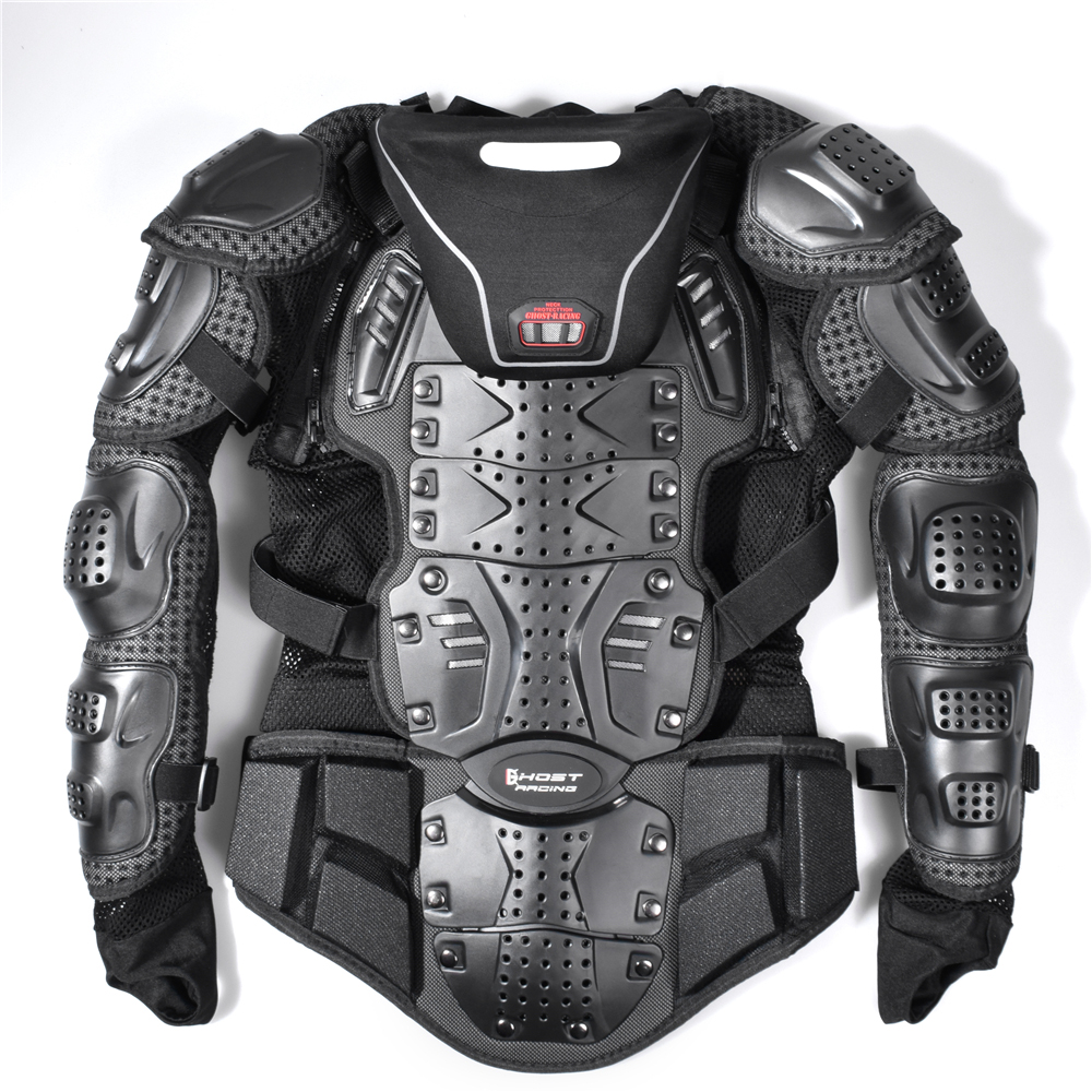 Motorcycle Full Body Armor Jacket Spine Chest Protection Gear Motrocross Bike RM