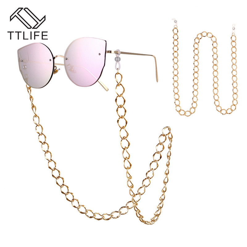 TTLIFE Holder Cord Lanyard Necklace Reading Glasses Chain Gold Beads Sunglasses Chain Eye Glasses Accessories Straps YJHH0279