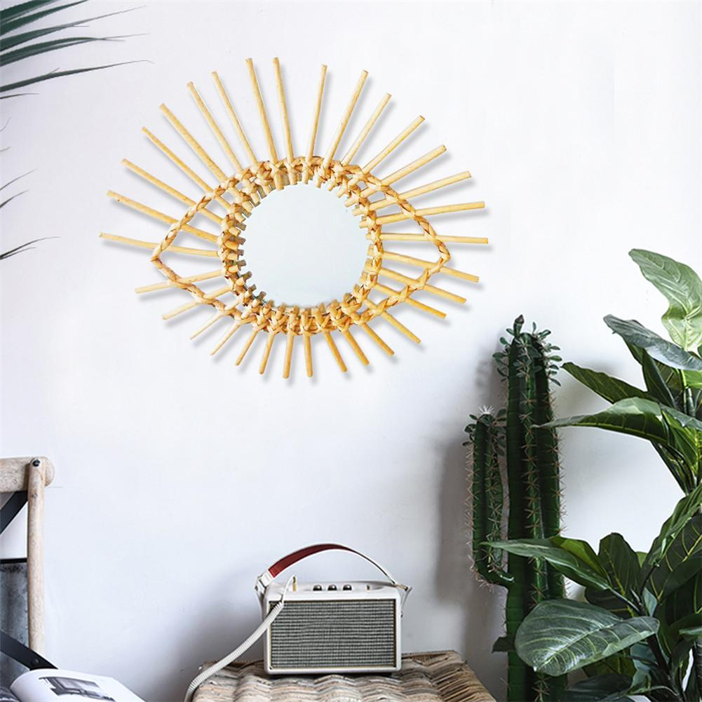 Permalink to Nordic Wall Hanging Makeup Mirror Holder Rattan Innovative Art Decoration Mirrors Frame for Bathroom Dressing Decorative Mirror