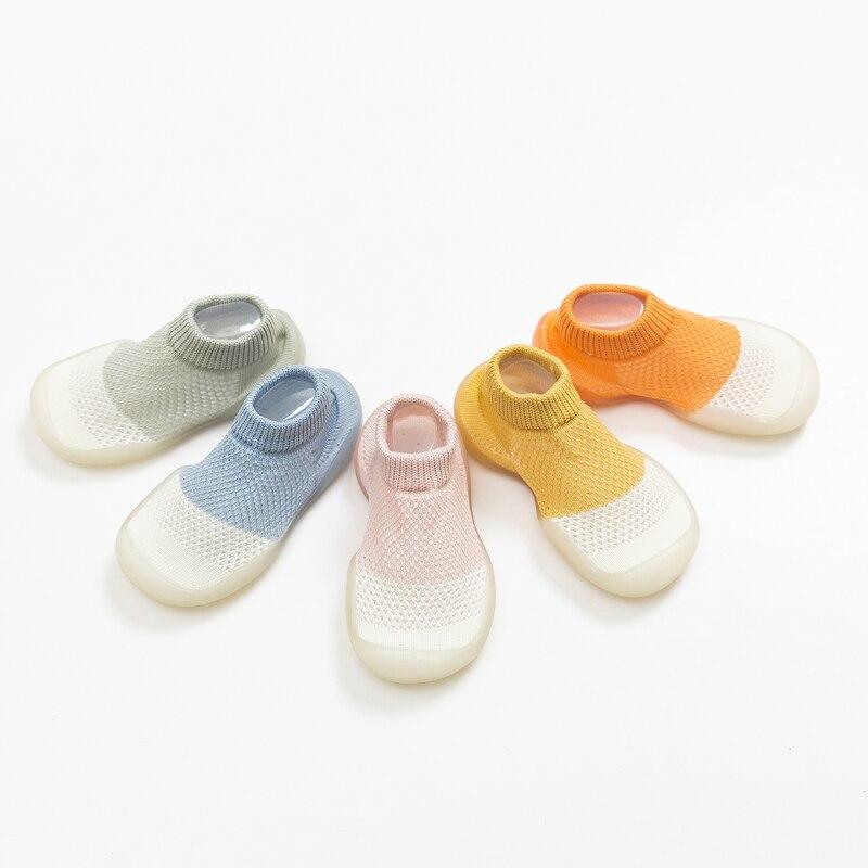 Baby Boys Girls Sock Shoes Summer Style Non-slip Floor Socks Baby Soft Rubber Sole