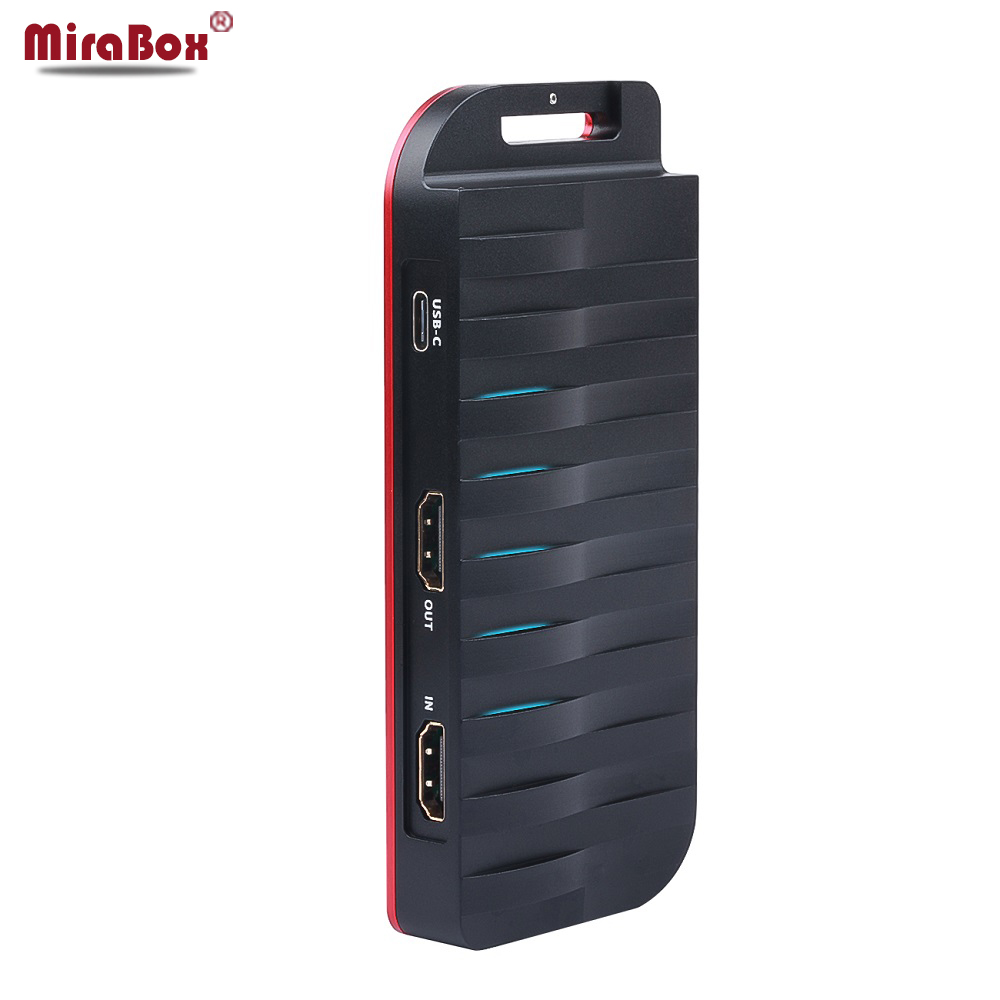 Mirabox USB-C/Type-C <font><b>HDMI</b></font> <font><b>Capture</b></font> <font><b>Card</b></font> 4K 30FPS,HD 1080P 60FPS,<font><b>HDMI</b></font> Game <font><b>Video</b></font> <font><b>Capture</b></font> <font><b>Card</b></font> with Mic Input and <font><b>HDMI</b></font> Passthrough image