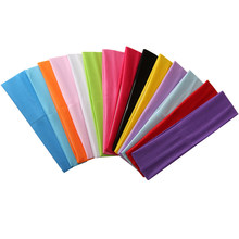 14 pçs/set yoga bandana esportes cor sólida leite de seda fitness elástico sweatband para eficaz trabalhar-para fora acessórios