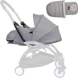 Гнездо для новорожденных 0-6 м детская корзина для коляски костюм для yoyo Yoya коляски зимние теплые спальные мешки аксессуары для детской коля...