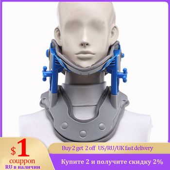 Neck Brace Heating Cervical Traction Cervical Stretching Device Neck Stretcher Support Relief Pain Medical Correction Collar hanriver the new nursing waist yoga therapy tool strength support towing cervical traction apparatus