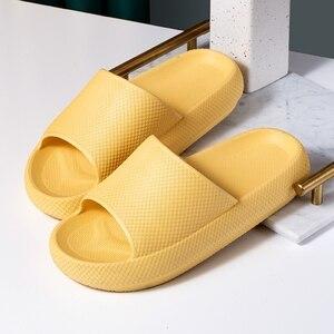 Trend Thick Sole Home Women Slippers 4.5cm Heel Ladies Platform Flat Shoes Non-slip EVA Living Room Indoor Slides Women Slippers