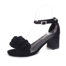 цены Large size flower sandals for women's spring and summer 2020 new Korean version solid color student shoes with non slip sandals