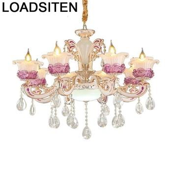 Pendelleuchte światła nowoczesny kryształowy oprawa Deco Maison lampora Colgante Lustre E Pendente Para Sala De Jantar lampy wiszące