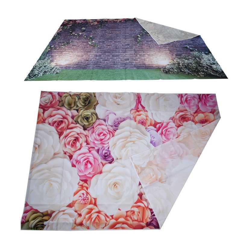 7X5Ft fotografia tło 3D kolor różowy papier ściana kwiatów wspaniały ślub Baby Shower piękna i 7X5Ft ściana kwiatów Photograp