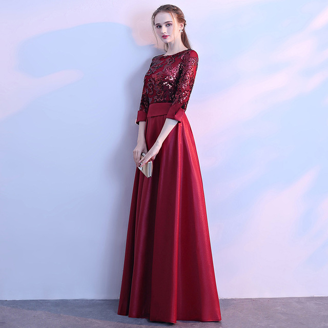 DongCMY Long Formal Sequined Prom Dresses Party New Plus Size Robe De Soiree Embroidered Gowns 3