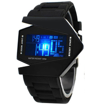 Fashion Men Watches Bomber Flashlight LED+12/24Hrs Military Force Sport Led Digital Sports Reloje Hombre