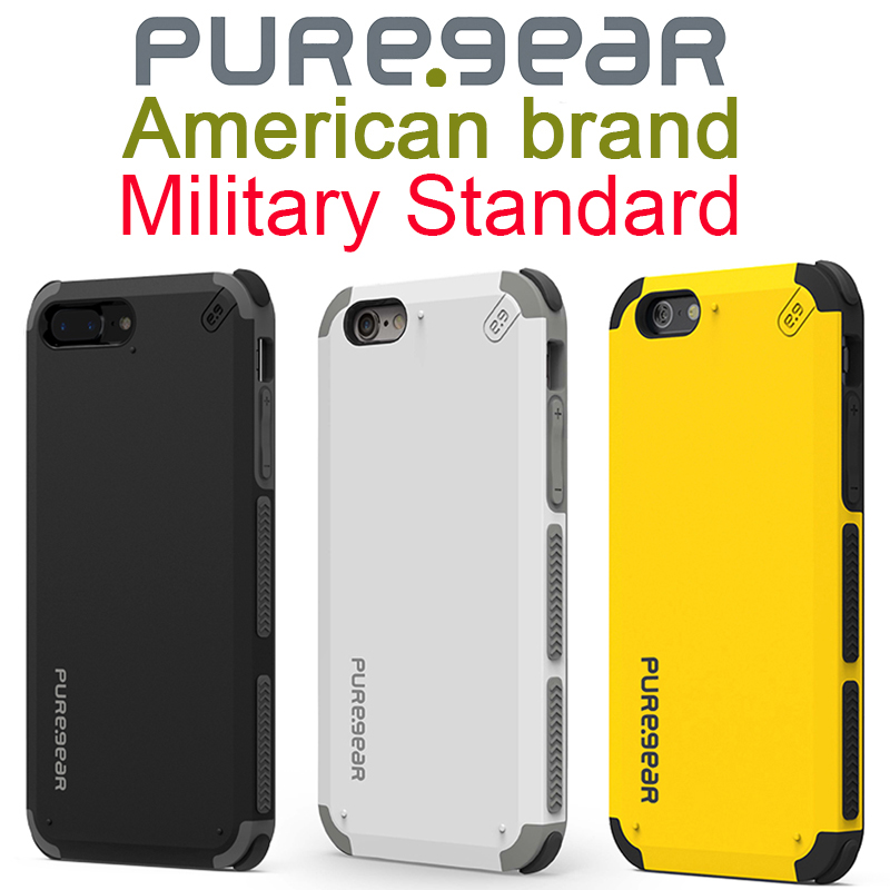 PureGear Heavy Duty Protection Shockproof For iphone Case 7 8 Plus Anti-Drop Silicone Armor Cover