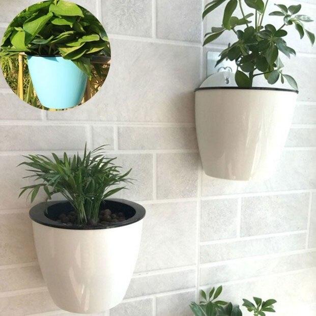 Creative Water-Free Resin Spring Bonsai Pot Intelligent Wall Planter Wall-hung PlantPots Green Lollipop Simple Flowerpots