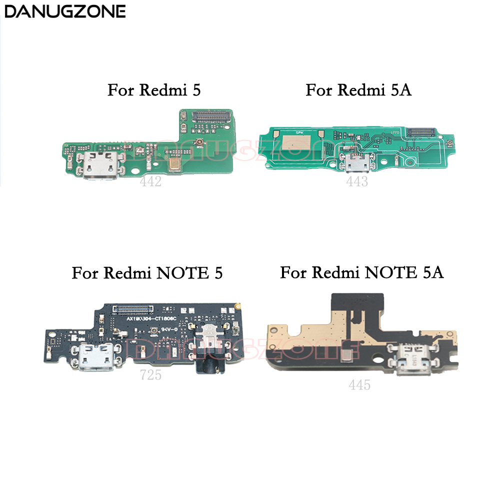 USB Charging Dock Jack Plug Socket Port Connector Charge Board Flex Cable For Xiaomi Redmi NOTE 5 Pro 5A / Redmi 5A 5