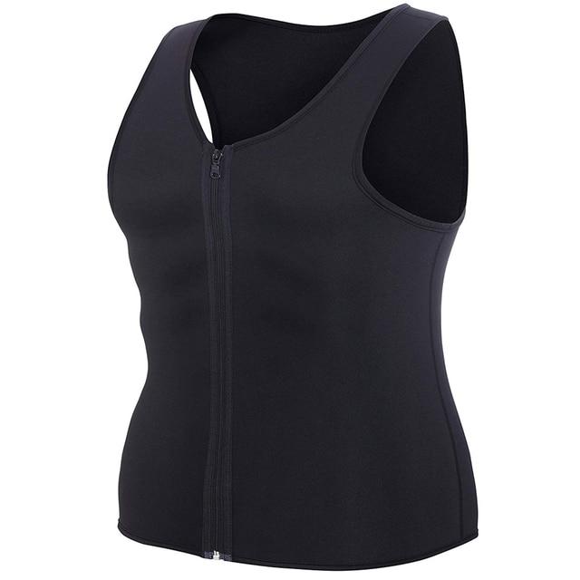 CXZD 2019 Men Waist Trainer Vest for Weightloss Hot Neoprene Corset Body Shaper Zipper Shapewear Slimming Belt Belly Men 3
