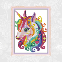 Needlework-Set Crafts Cross-Stitch-Kits Embroidery Unicorn Canvas Count-Print DMC 11CT
