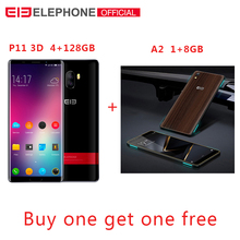 Elephone P11 3D 6.0 Inch incell screen FHD+ 4GB 64GB Mobile Phone Android 8.0 MTK6797T Deca Core 16MP+8MP 3200mah 4G Smartphone 6 0 elephone s8 2k screen 4g phablet android 7 1 deca core 4gb 64gb 21mp new apr18