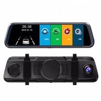 Full HD Car DVR Camera 10 IPS Touch Screen Rear View Mirror Car DVR Mirror Dash Camera Dash Cam Dual Car Camera Drive Recorder